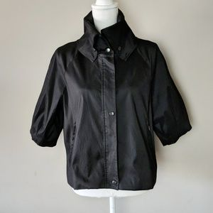 Samuel Dong Black Crop Sleeve Jacket XL